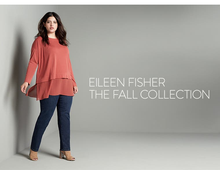 Plus-size Eileen Fisher: the fall collection.