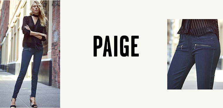 Zipped-up denim from PAIGE.