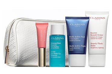 Receive a free 5-piece bonus gift with your $50 Clarins purchase