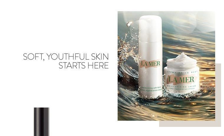 Soft, youthful skin starts with La Mer skin care.