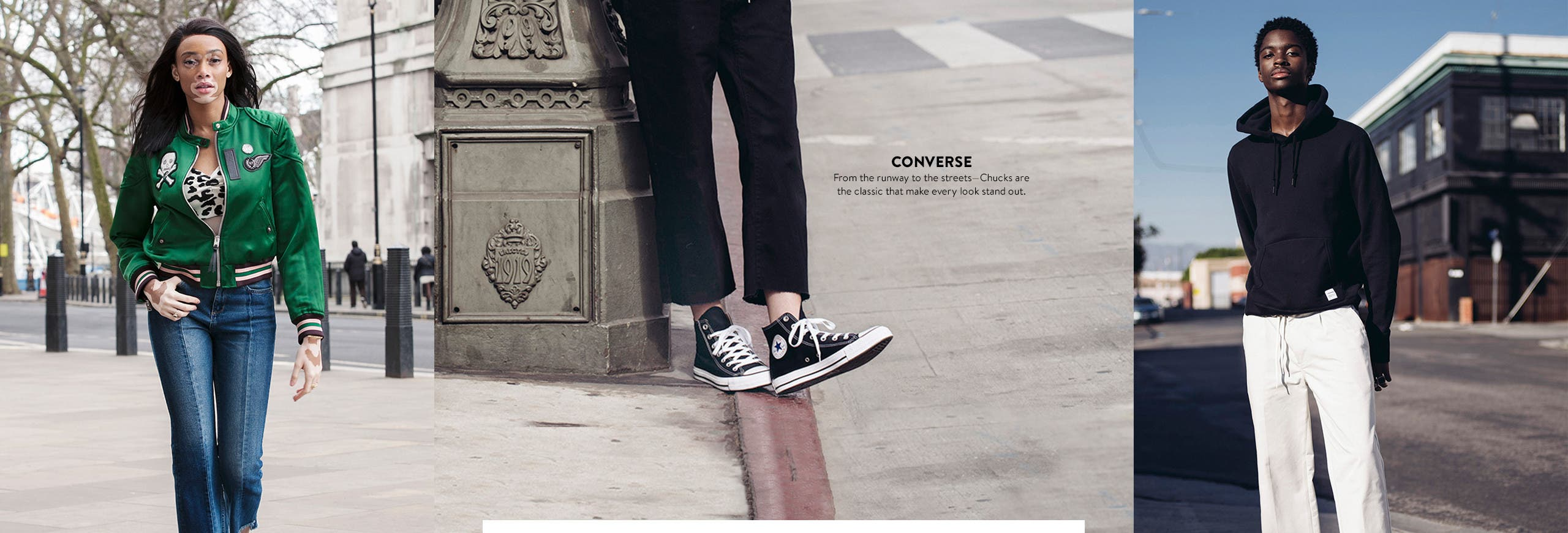Converse Chuck Taylor sneakers.