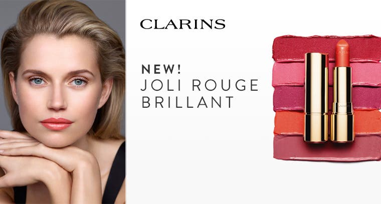 New from Clarins: Joli Rouge Brillant.