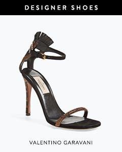 Designer shoes: Valentino Garavani sandal.