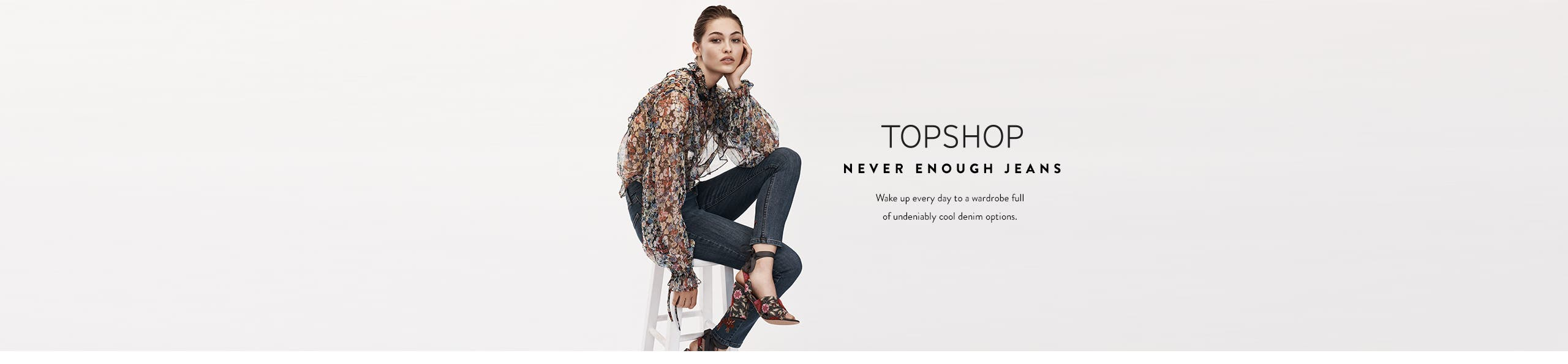 Topshop jeans for women.