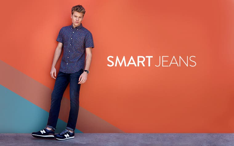 Smart pants. Men's jeans trend.