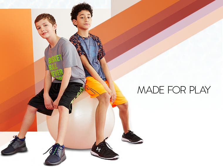 Made for play: boys' activewear.
