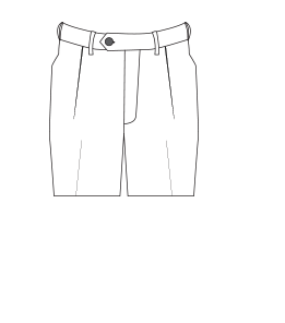 Single-pleated trouser illustration.