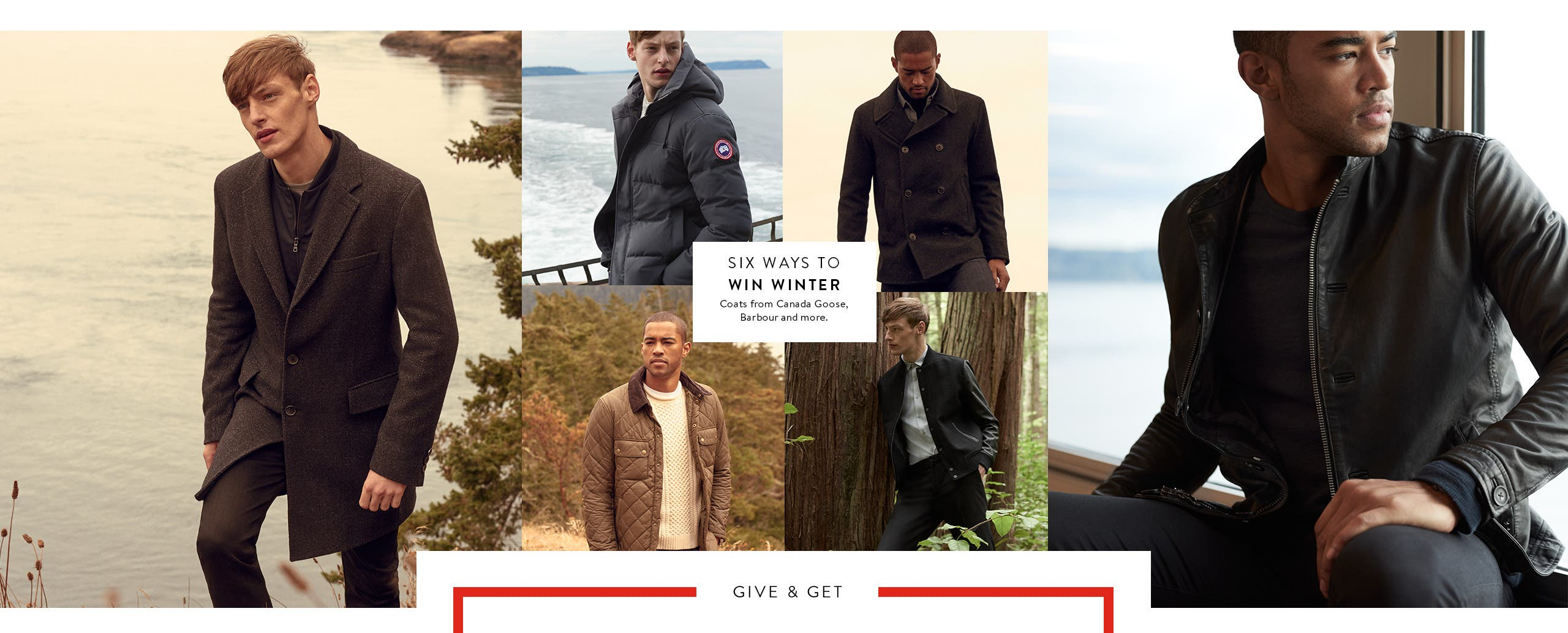 Six ways to win winter: winter coats for men.