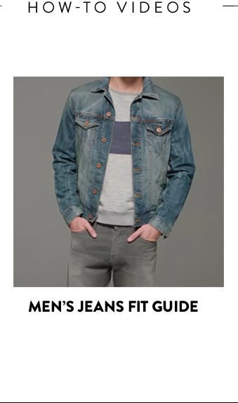 Men's jeans fit guide.