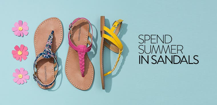 Summer sandals for girls.