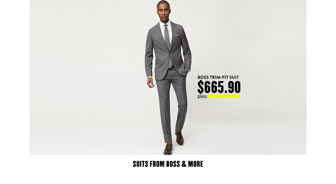 Boss Trim-Fit Suit $665.90.