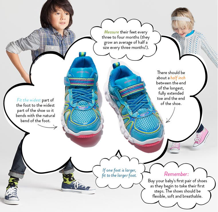 Shoe fit guide for kids.