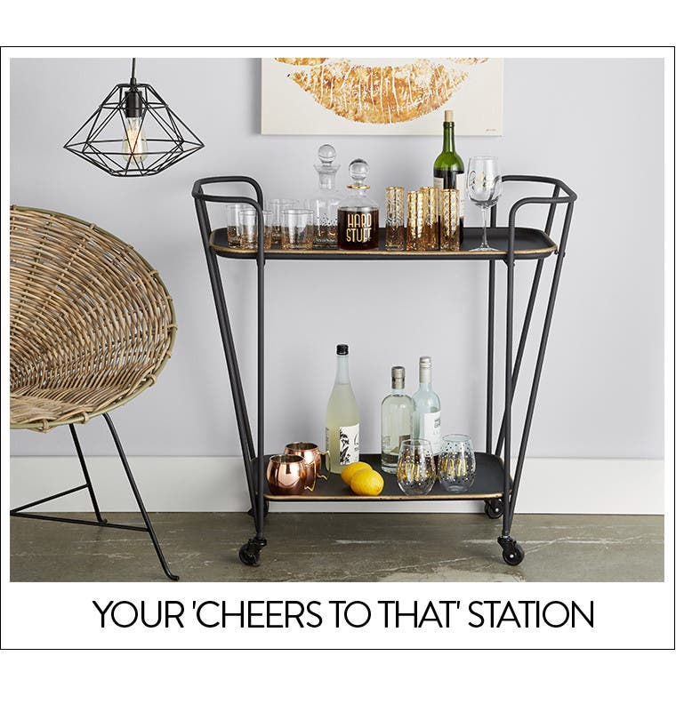 Your 'cheers to that' station: barware.