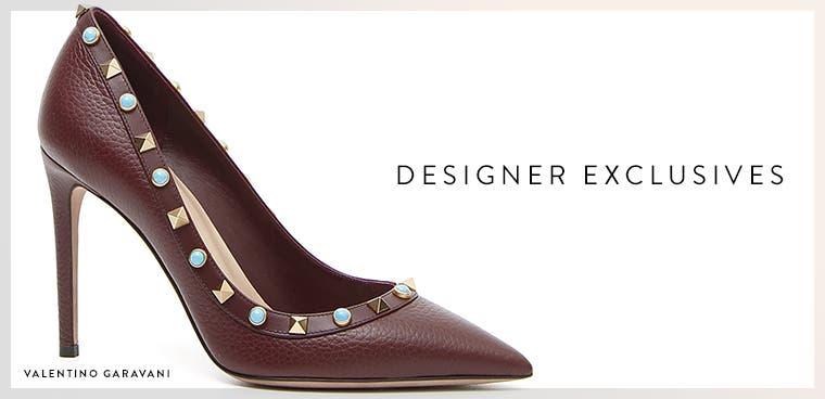 Nordstrom-exclusive designer shoes.