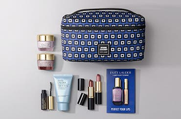 Choose your free gift with $45 Estée Lauder purchase. Up to $170 value. Get more gift when you spend $75.