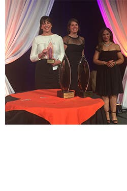Jen Jackson Brown accepted the Corporate Partnership award from the YWCA at the USA Women of Distinction Awards Gala.
