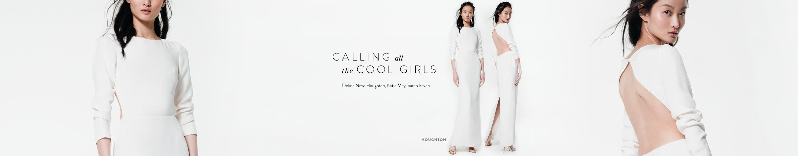 Calling all the cool girls. Edgy new wedding gowns from Houghton, Katie May and Sarah Seven.