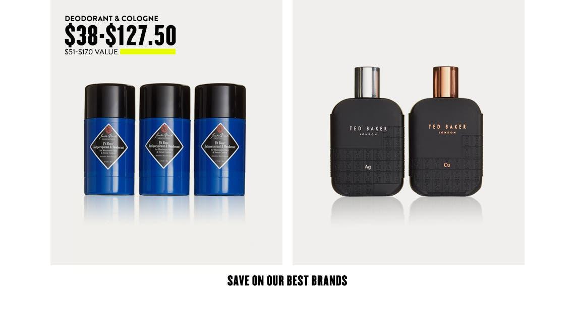 Deodorant & Cologne $38-$127.50