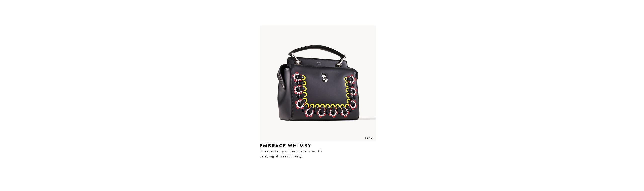 Designer new arrivals: Fendi floral handbag.