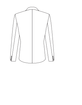 Closed jacket (no vents) illustration.