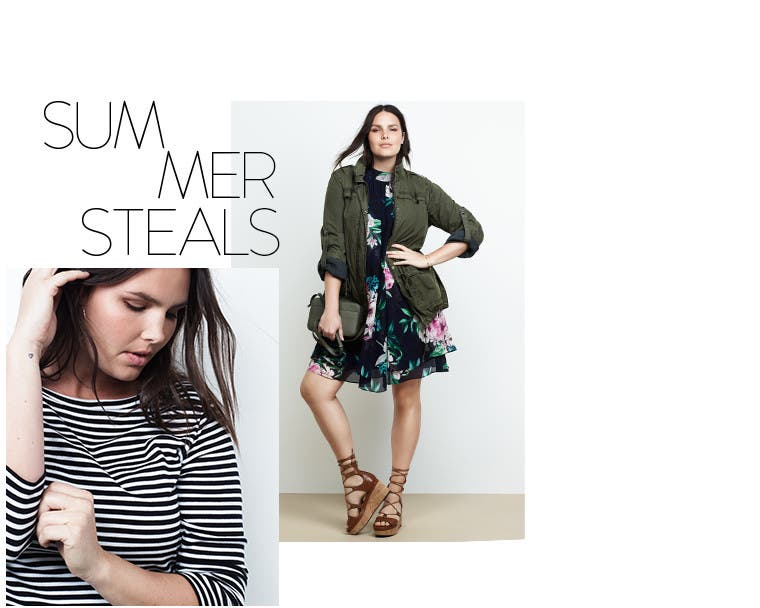 Summer steals in plus-size clothing.