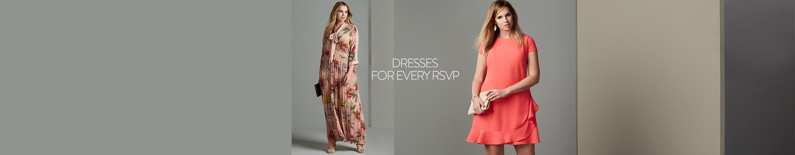 Plus-size dresses for every RSVP.