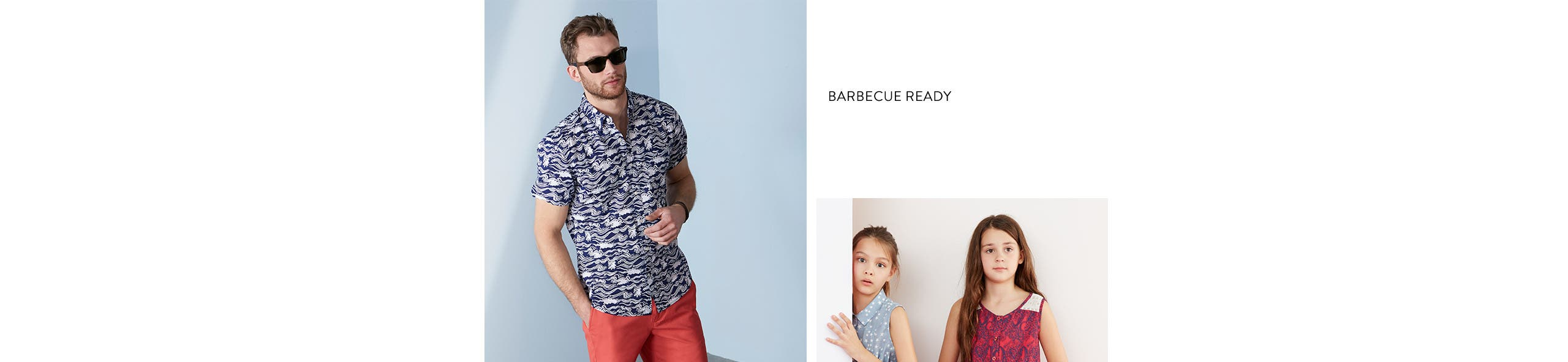 Barbecue ready in men's clothing and more. Americana-cool kids' clothing.