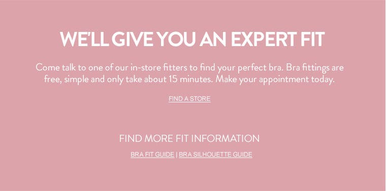 Get an expert bra fitting.