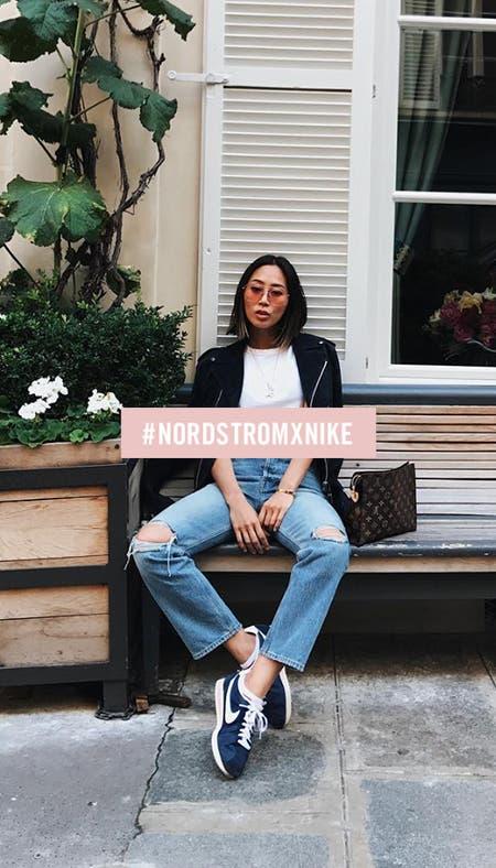 Nordstrom x Nike social.