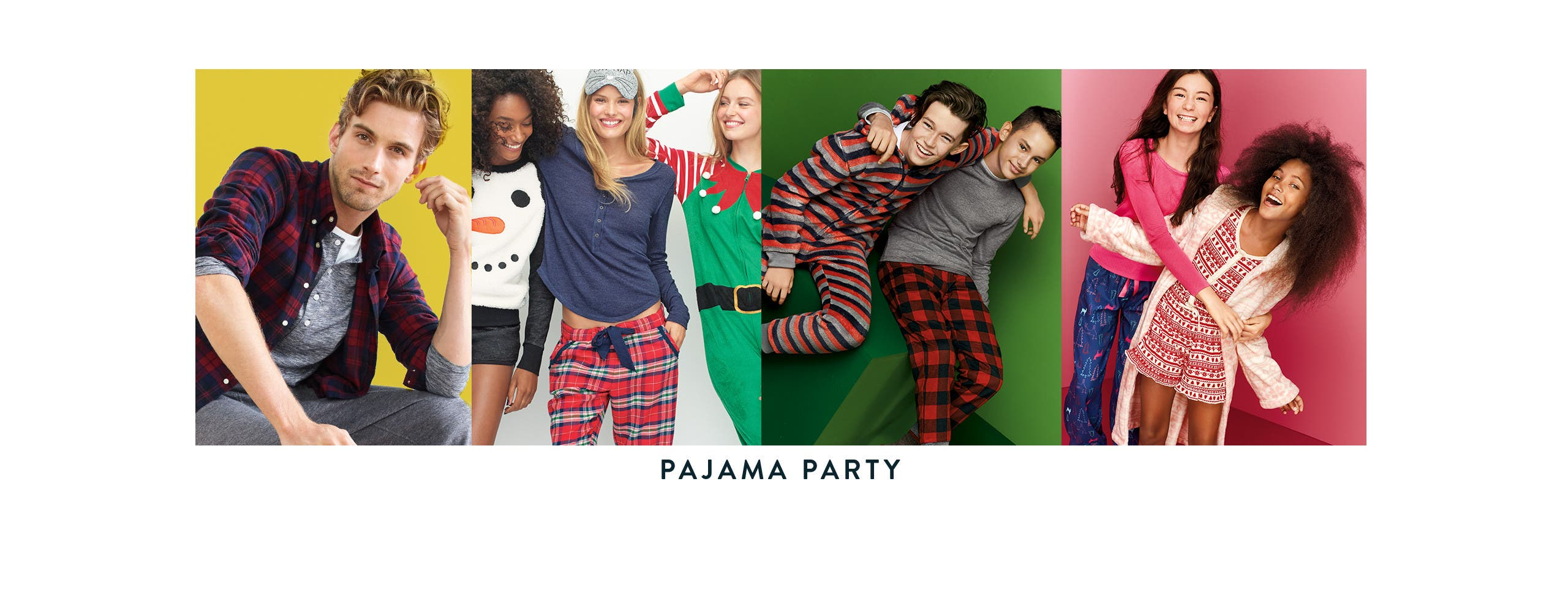 Pajama party gifts for men, women and kids.