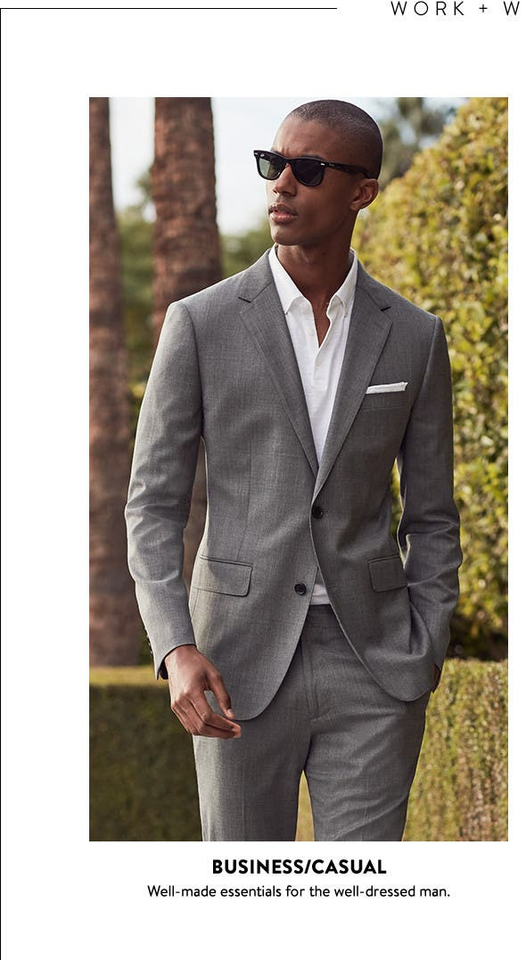 Business casual and stylish weekend wear for men.