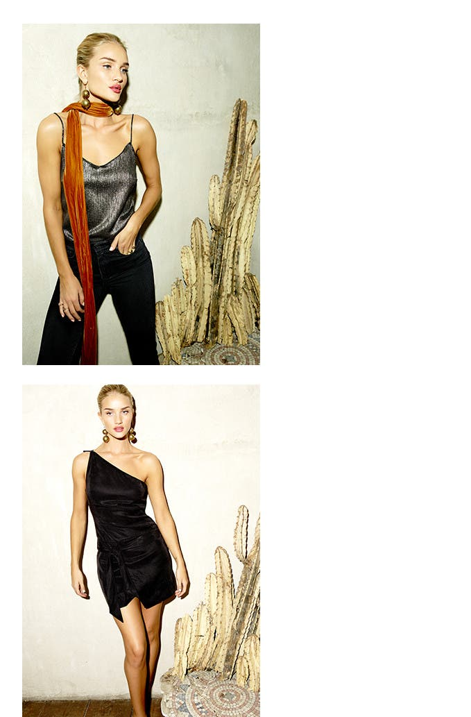 Rosie Huntington-Whiteley x PAIGE denim capsule collection.