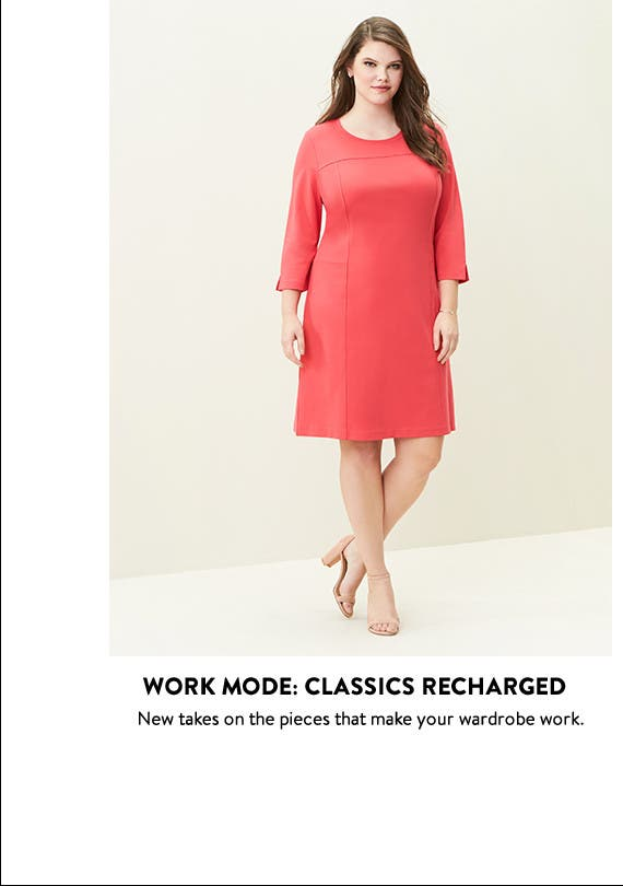 Plus-size work clothing: classics recharged.
