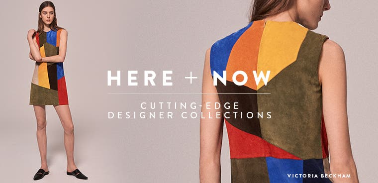 Here and Now: cutting-edge designer collections. Victoria Beckham clothing.