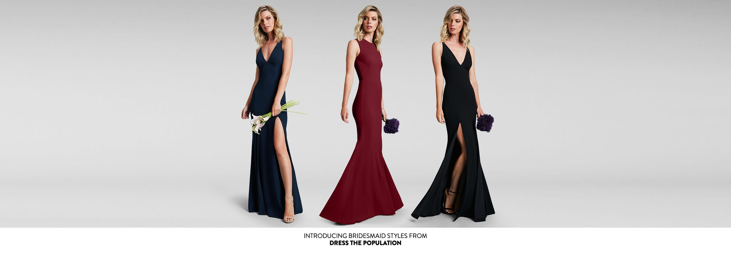 Introducing bridesmaid dresses from Dress the Population.