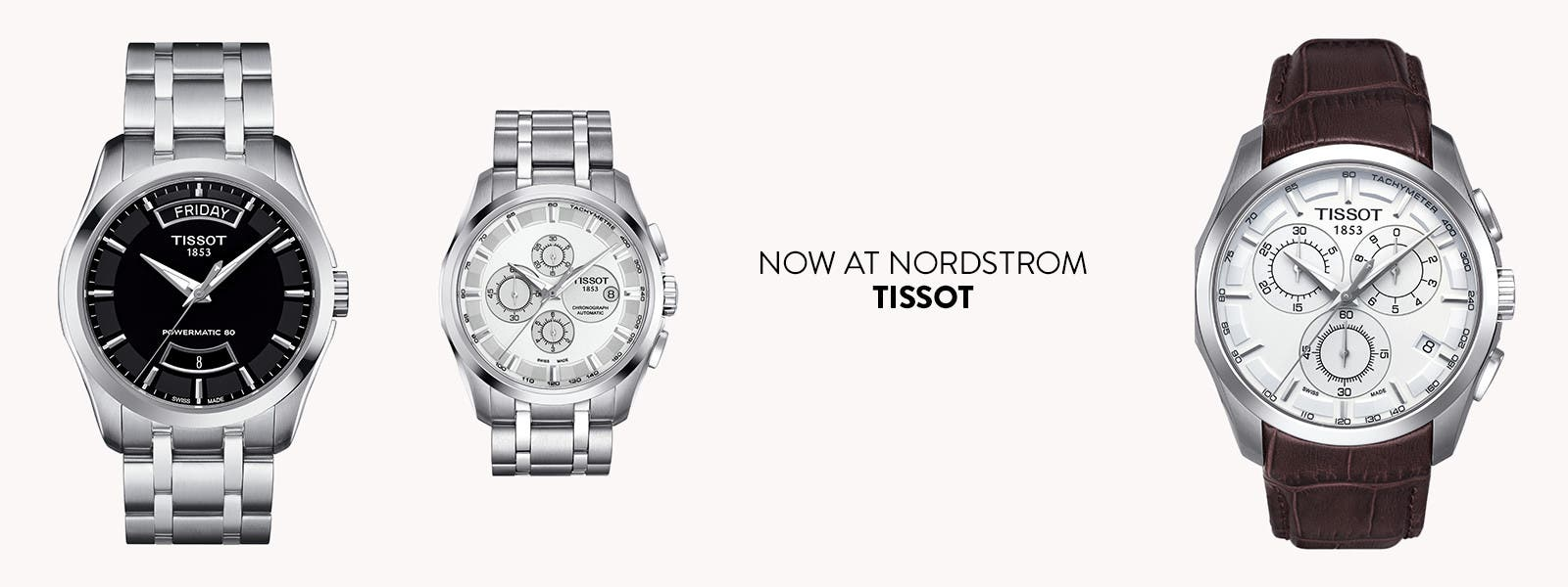Now at Nordstrom: Tissot watches.