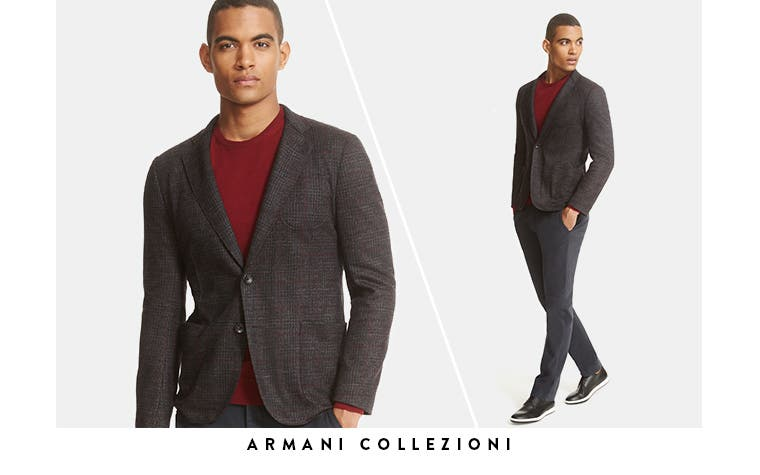 Armani Collezioni jackets and more men's designer clothing.