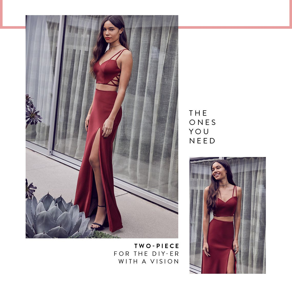 Two-piece prom dresses for the DIYer with a vision.