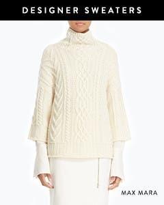 Designer sweaters: Max Mara.