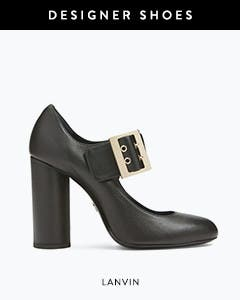 Designer shoes: Lanvin mary-jane pump.