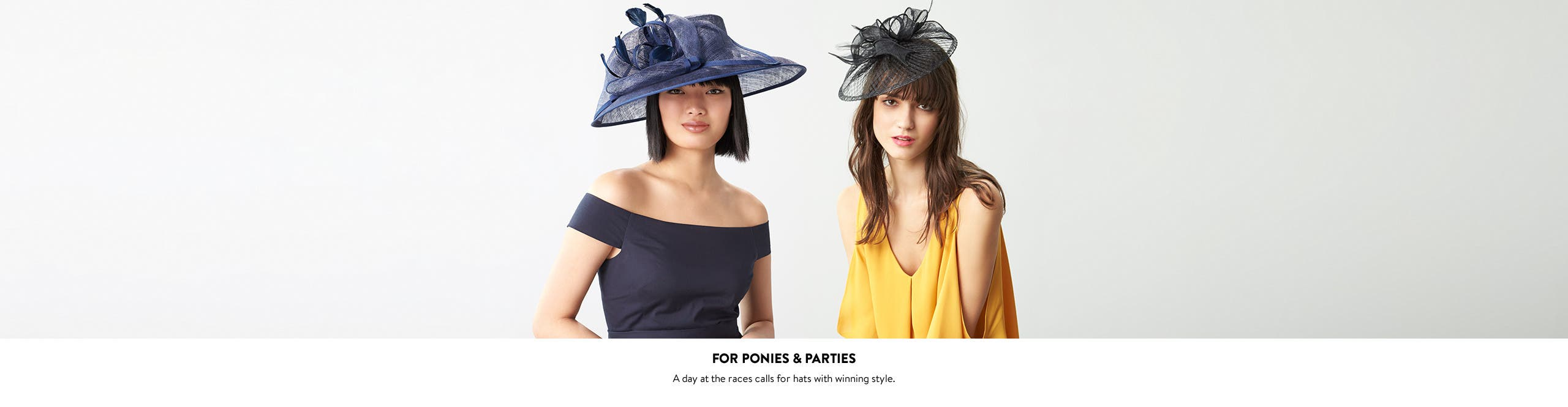 For ponies and parties: hats.