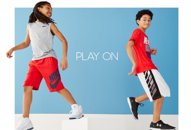 Play on in boys' activewear.