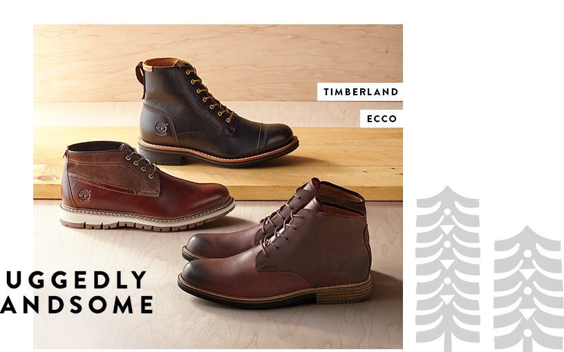 Ruggedly handsome boots from Timberland and ECCO.