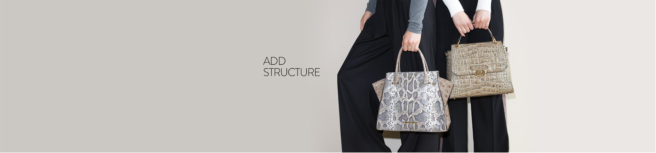 Add structure: architectural bags.