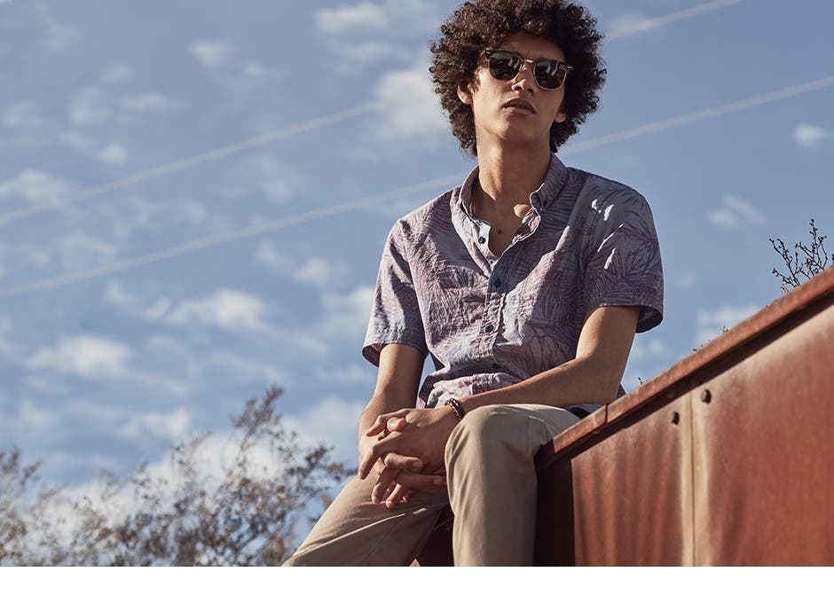 What to wear now. Shop spring trends and men's trend clothing, shoes and accessories.