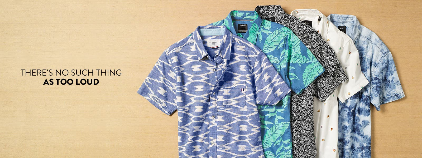 There's no such thing as too loud: short-sleeve printed shirts.