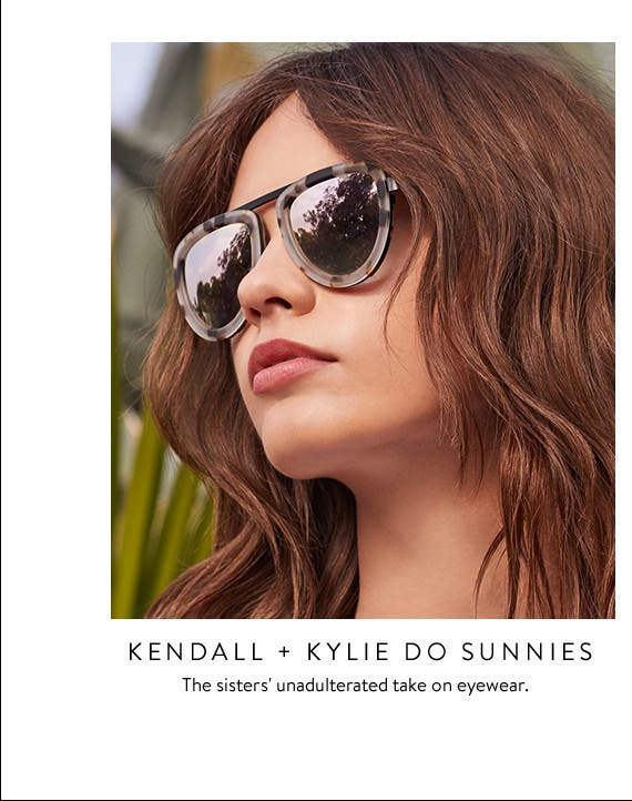 Women's sunglasses from Kendall + Kylie and more.