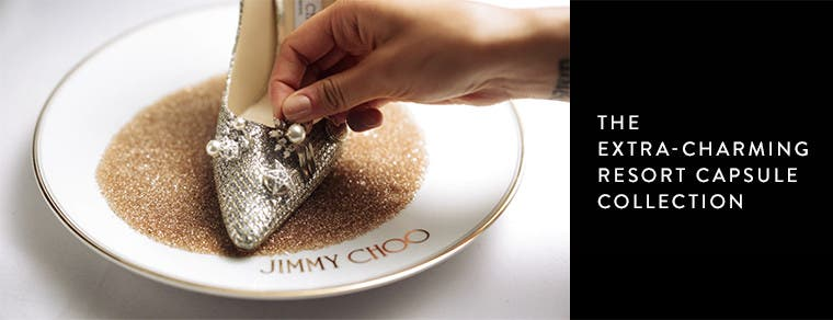 Play video of the Jimmy Choo resort '17 capsule collection's pick-and-mix charms.