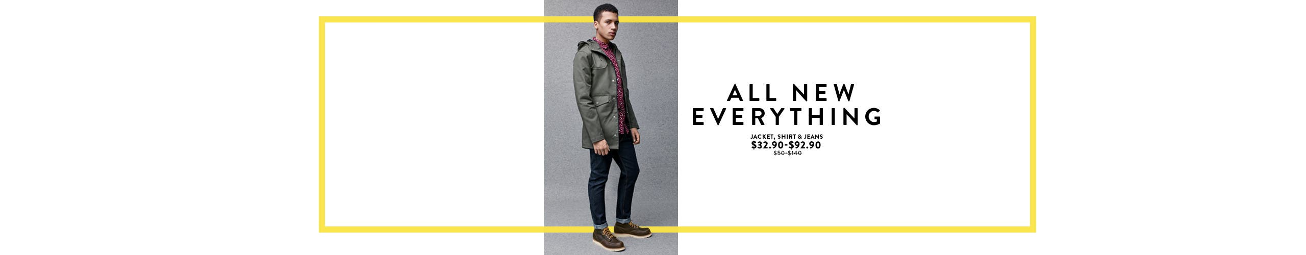 All-new everything: clothing from Topman.