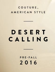 Desert calling. Couture, American style, by St. John.